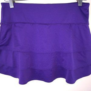 Athleta knit skort sz S EUC LN purple tiered skort